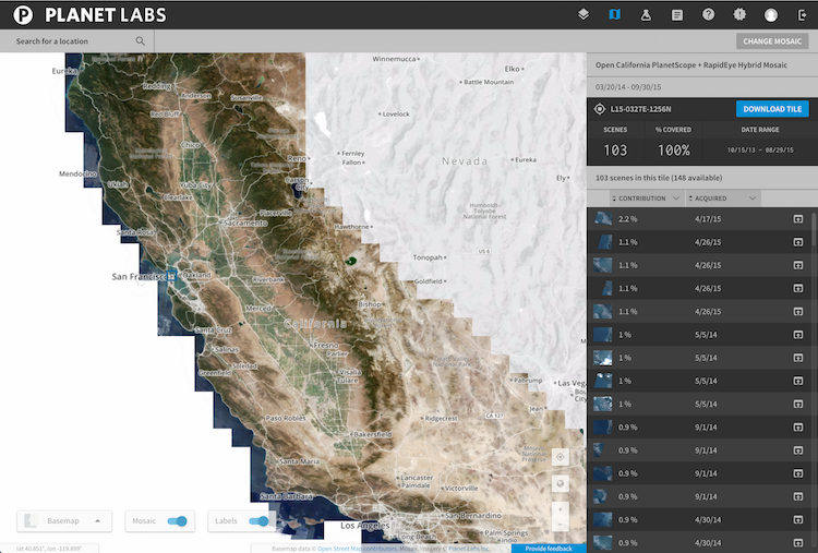 Open California Mosaic Screenshot