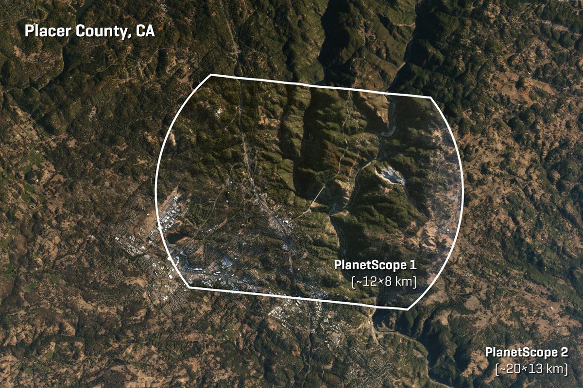 Image comparando PlanetScope1 con datos PlanetScope2.
