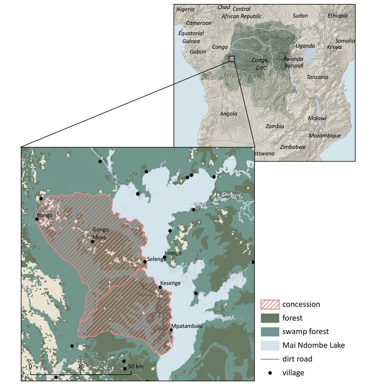 map Mai Ndombe