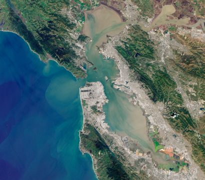 View of San Francisco Bay from the Copernicus Sentinel-2 mission