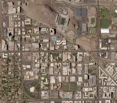 Planet Skysat image of Arizona State university campus