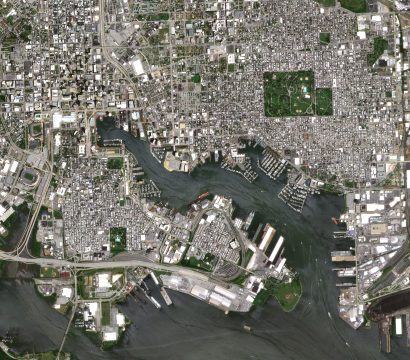 satellite image of Baltimore Maryland