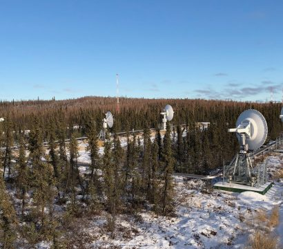 Canadian satellite ground station Inuvik // Photo by Joe Breu, Director of Global Ground Networks, Planet