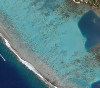 Planet Skysat imagery of Mo'orea, a South Pacific island, part of French Polynesia's Society Islands archipelago, taken on March 22, 2018
