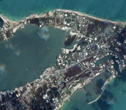 Satellite image of Marsh Harbour after being struck by Hurricane Dorian // Credit: Leanne Abraham, Planet