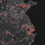 Aggregated building change heatmap over Eastern China // Credit: Analytics Engineering, Planet