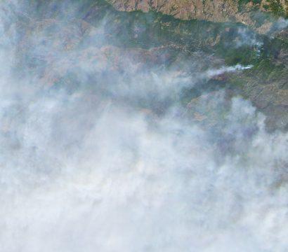 Kincade fire, October 24, 2019 // Credit: Leanne Abraham, Planet