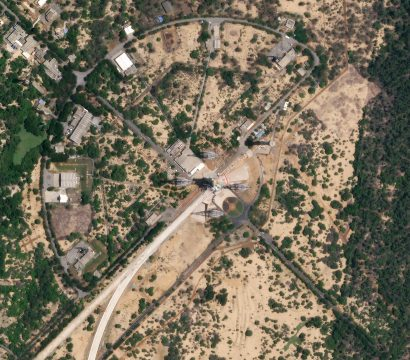 Launch pad at Satish Dhawan space center, imaged on August 19, 2019 © 2019, Planet Labs Inc. All Rights Reserved.