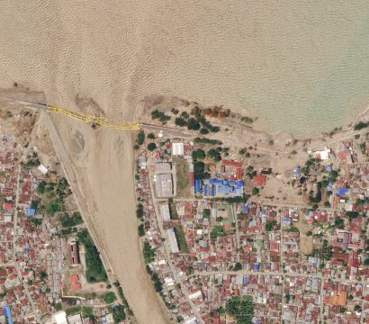 Post-earthquake image of Palu, Indonesia © 2018, Planet Labs Inc. All Rights Reserved.
