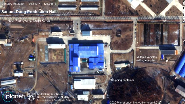 Planet's satellite imagery shows the Sanum-Dong Production Hall, with analysis provided by the Middlebury Institute of International Studies at Monterey (MIIS).