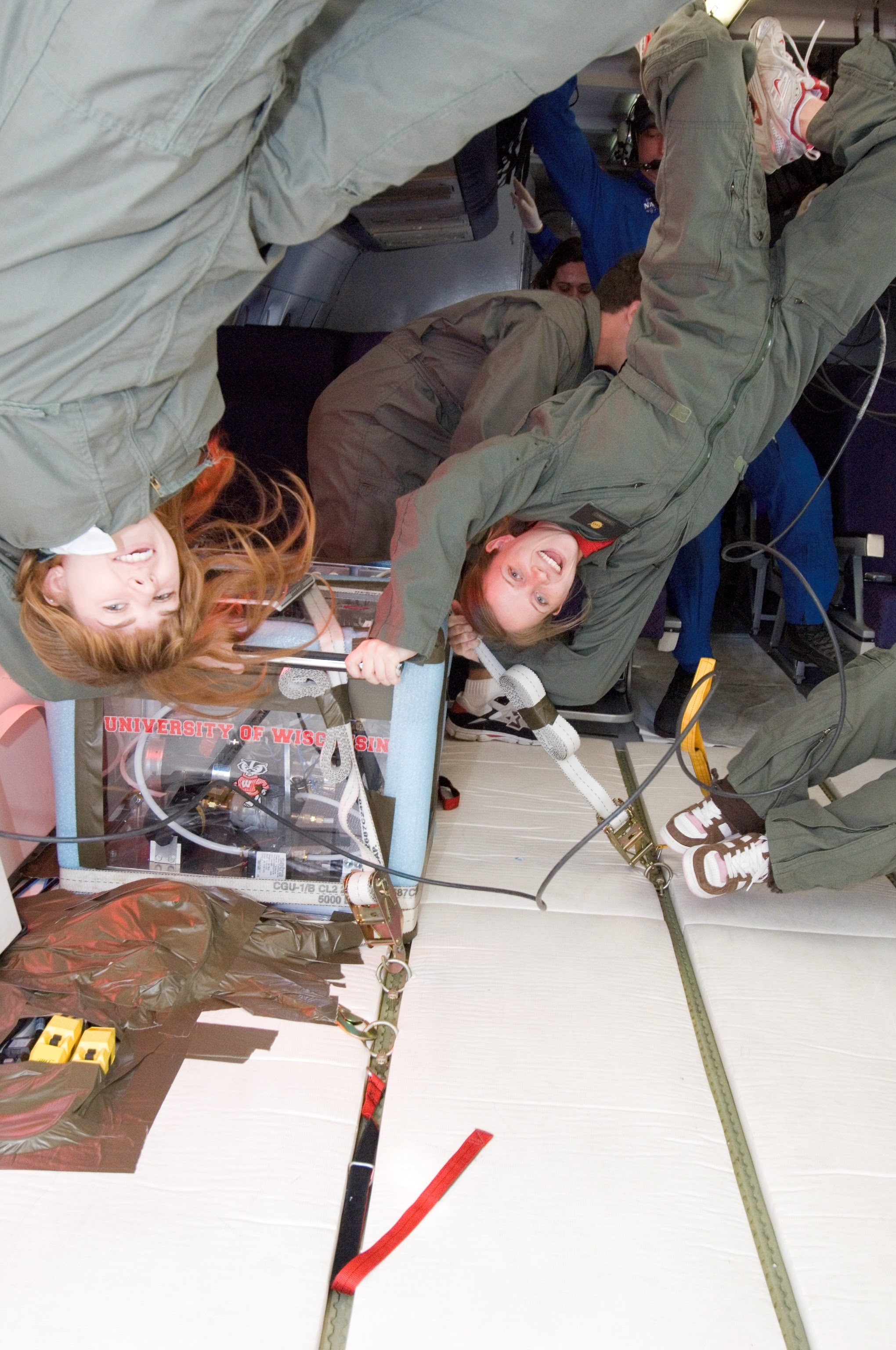 Planet's Lisa McGill in NASA's Zero Gravity Weightless Lab. Image courtesy of Lisa McGill.
