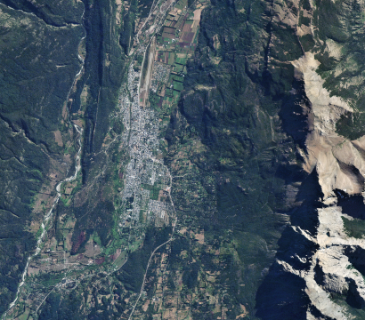 RapidEye image of El Bolsón in Argentina © 2020, Planet Labs Inc. All Rights Reserved.