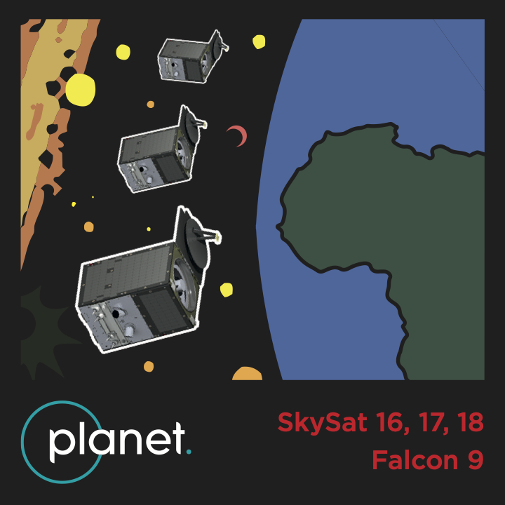 SkySat 16-18 Mission Patch © 2020, Planet Labs Inc. All Rights Reserved.