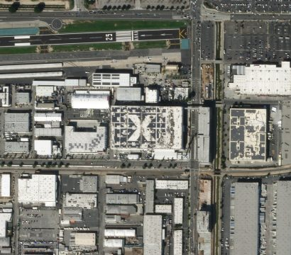 A SkySat view of the SpaceX HQ collected on February 1, 2020. © 2020, Planet Labs Inc. All Rights Reserved.