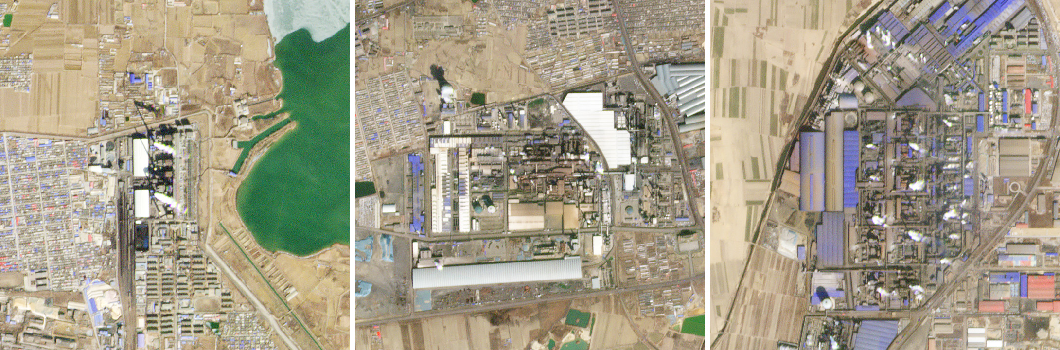 Some steel mills and power plants remain in operation around Beijing, China during the COVID-19 crisis. © 2020, Planet Labs Inc. All Rights Reserved.