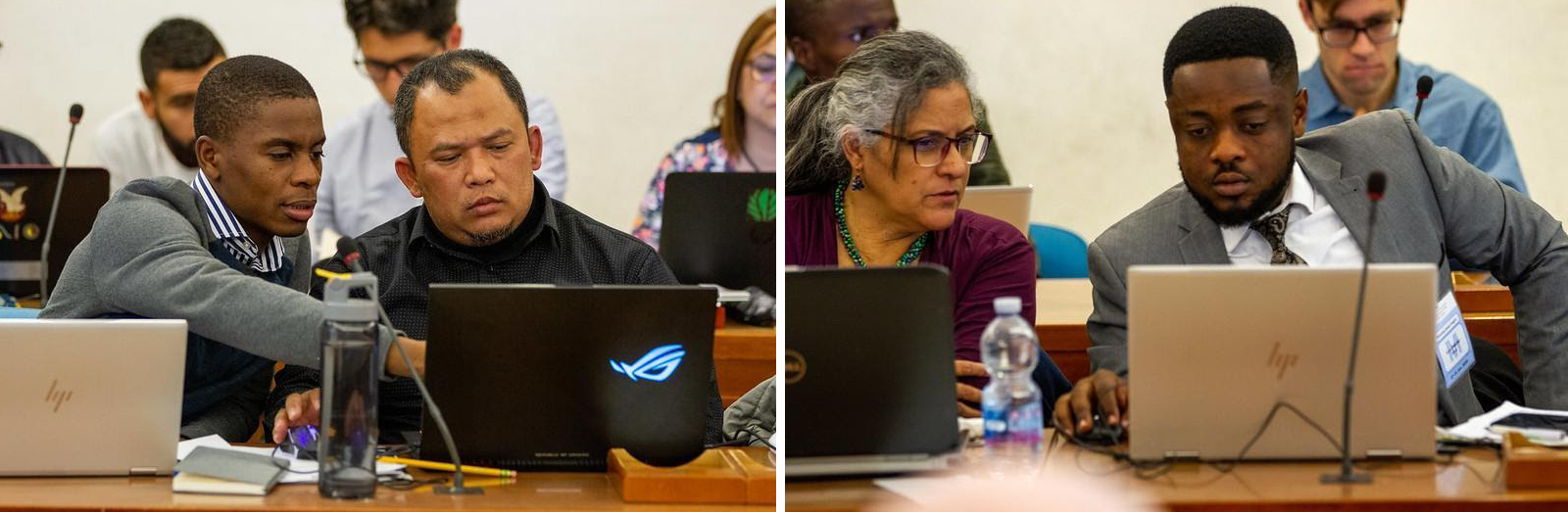Countries working with Planet data in FAO's SEPAL platform cross-share their lessons and approaches to leveraging high-resolution imagery for improved forest and land use monitoring. Mozambique shares workflows with Indonesia (left) while Ghana shares insights with Mexico (right). Source: FAO.