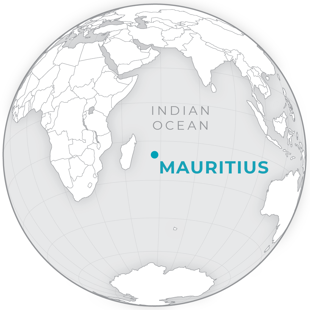Map showing the location of Mauritius © 2020, Planet Labs Inc. All Rights Reserved.