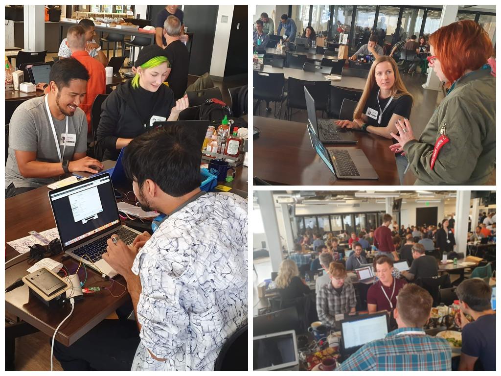 Hack teams working together at Planet Hack 2019