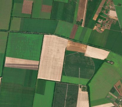 Agriculture outside of Kobeliaky, Poltava Oblast, Ukraine. July 12, 2020. © 2020, Planet Labs Inc. All Rights Reserved.