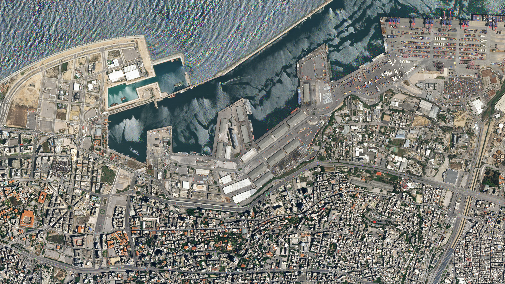 SkySat imagery of Beirut, Lebanon on May 31, 2020 © 2020, Planet Labs Inc. All Rights Reserved.