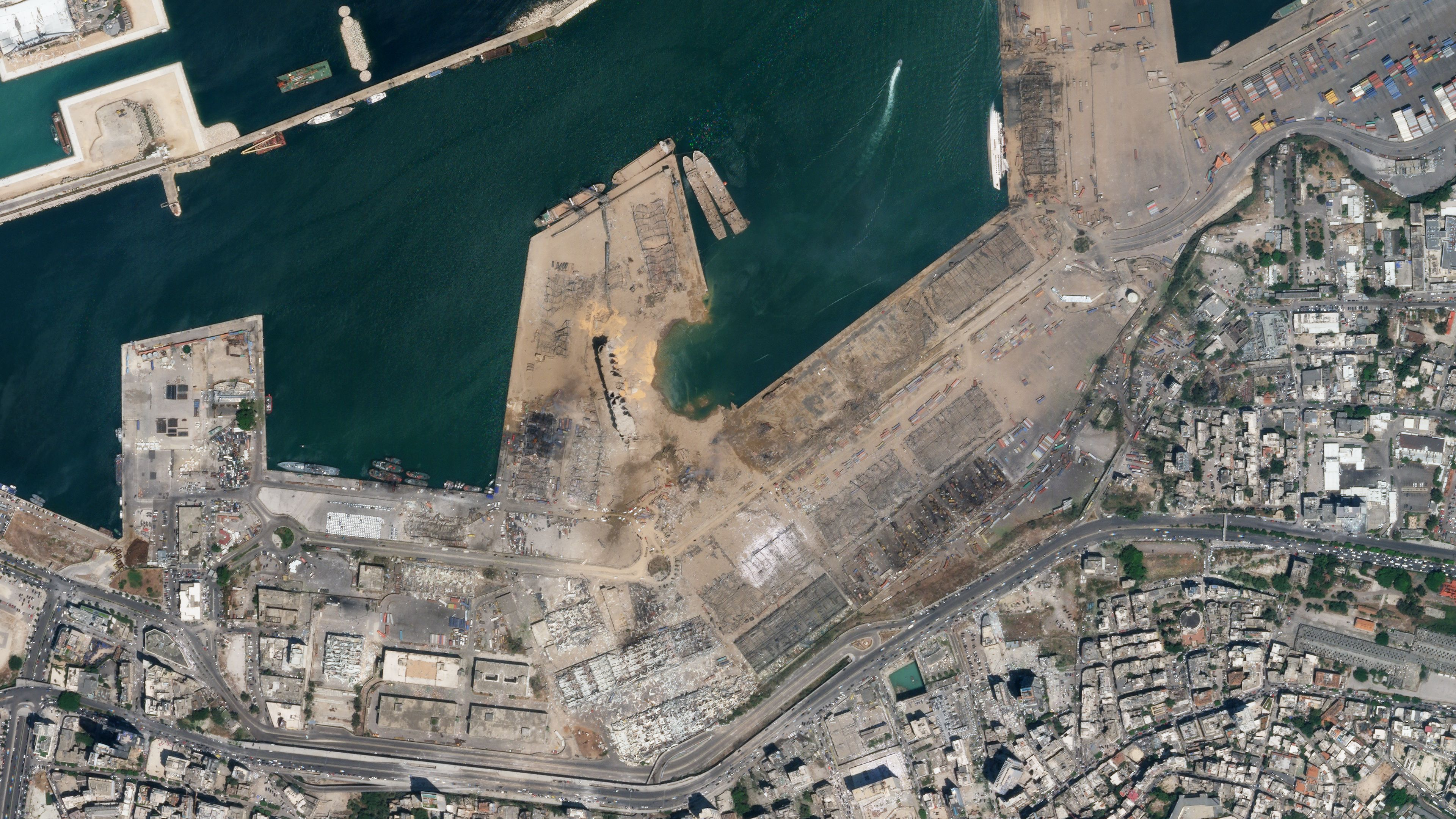 SkySat imagery of Beirut, Lebanon on August 5, 2020 © 2020, Planet Labs Inc. All Rights Reserved.