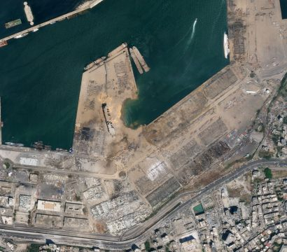 Ammonium Nitrate Explosion in Beirut, Lebanon on Aug 5, 2020 © 2020, Planet Labs Inc. All Rights Reserved.