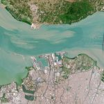 The Madura Strait, Indonesia, on Jul 31, 2020 © 2020, Planet Labs Inc. All Rights Reserved.