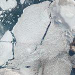 加拿大北极米尔恩冰架的PlanetScope图片保留所有权利。