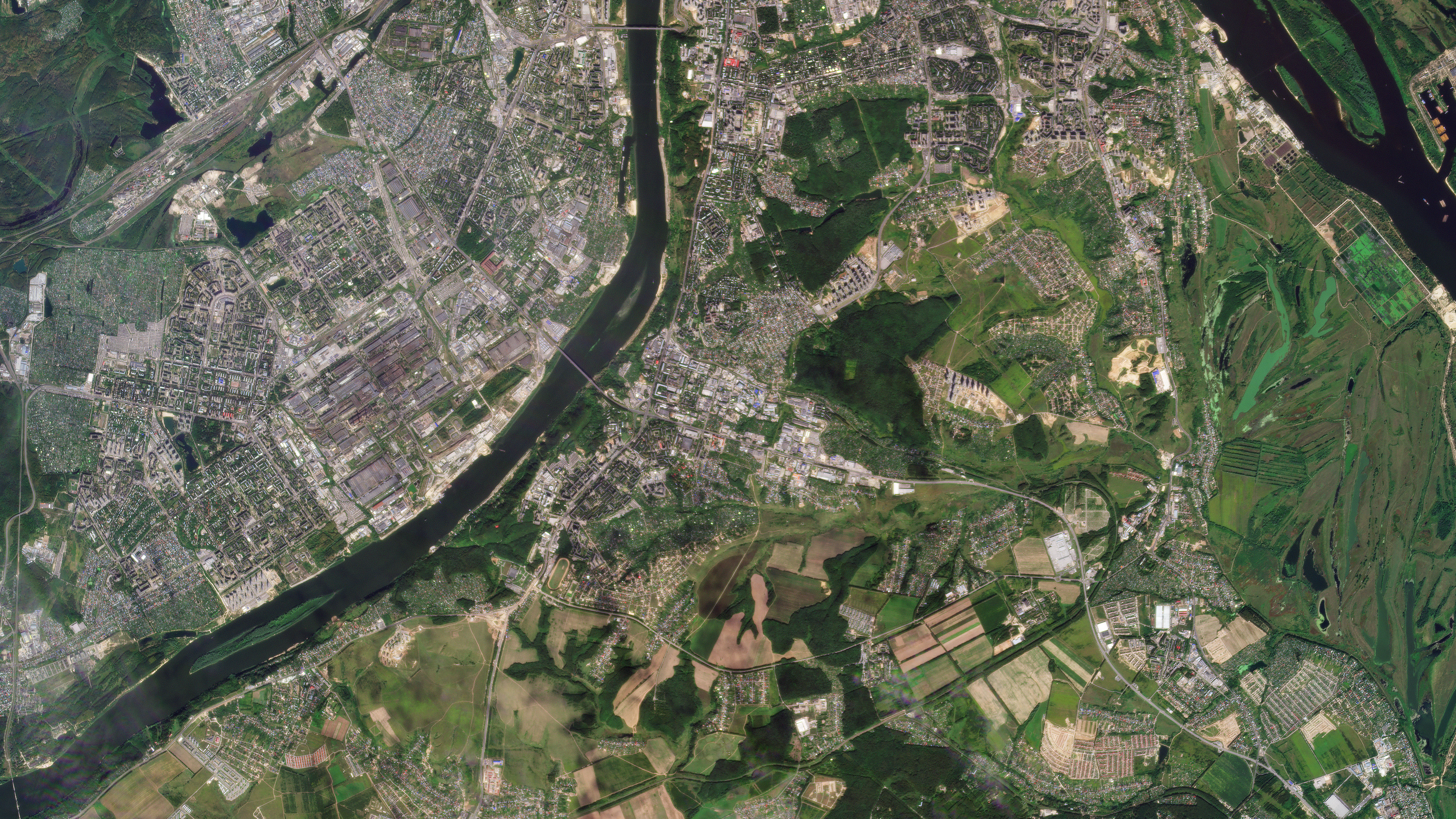 Planet SuperDove first light image of Nizhny Novgorod, Russia © 2020, Planet Labs Inc. All Rights Reserved.