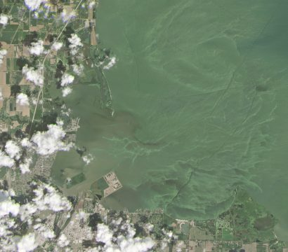 Algal Blooms in Toledo, Ohio. © 2019, Planet Labs Inc. All Rights Reserved.